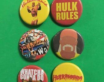 Hulk Hogan Pin Pack: Hulk Rules, Hulkamania, NWO, Whatcha Gonna Do