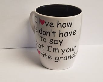 Grandma Coffee Mug Mother's Day Gift Favorite From Grandchild Decal Customize
