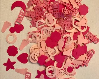 "Personalized Confetti ""Its a girl"" 150pc+"