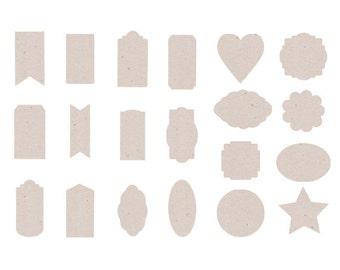 Kraft tags- digital tags, instant download, background pattern,  digital paper, craft paper,digital paper pack, digital download,