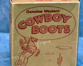 Youth Genuine Western Cowboy Boot Box (only)
