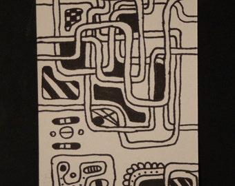 Original Hand Drawn Bookmark
