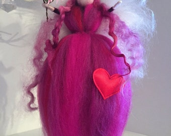 Valetine Needle Felt Fairy, Waldorf Inspired