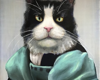 Renaissance Pet Portraits - Custom Hand-painted Acrylic on Canvas to order