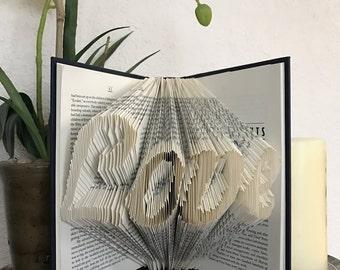Folded book art Love Anniversary Wedding Shower Valentine's Day