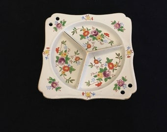 Vintage Divided Square Dish