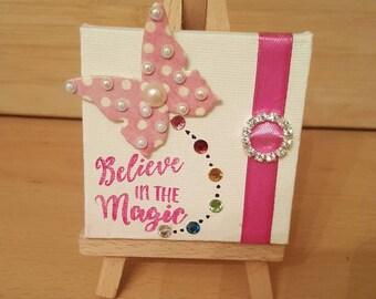 Believe in magic mini easel