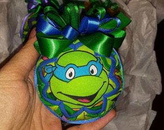 TMNT Quilted Christmas Ornament - Leonardo