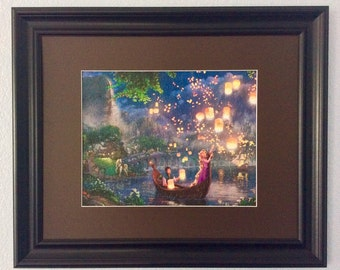 Disney Kinkade Framed/Assembled Puzzle Art - Tangled