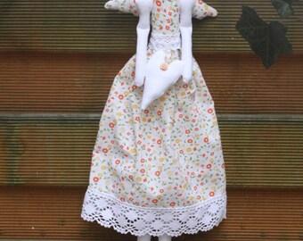 floral tilda, floral tilda angel, fabric tilda, fabric angel, home and decor, interior doll, interior, floral art doll, collectible doll,