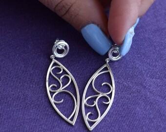 Everyday Earrings, Minimal Earrings, Edgy Silver Earrings, Unusual Earrings, Dainty Earrings, Delicate Earrings, Summer Earrings