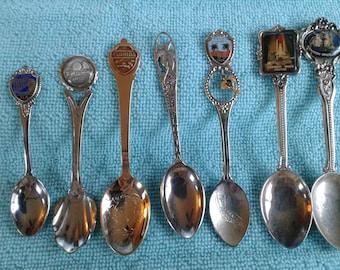 7 souvenir Florida Collector Spoons