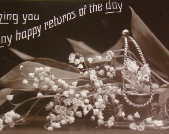 SALE Vintage Real Photo Postcards (Flowers)