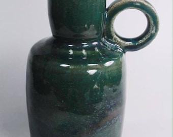 Emerald, Pottery, Jug, Pottery Jug, Handmade Pottery, Functional Pottery, Indie Art, Glaze, Round handle