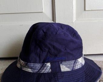 Jack Nicklaus Bucket Hat in Navy Blue/used