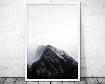 Mountains Minimalist Art, Mountain Photo, Nature Print, Mountains Poster, Minimalist Print, Mountains Printable, Mountain Print, Nature Art