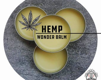HEMP OIL Wonder Balm by Bloody Bishop - beeswax coconut shea butter coco butter herb oils