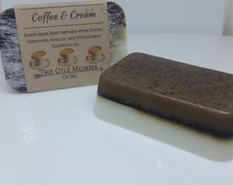 Coffee & Cream Goat's Milk Soap.