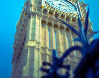 Big Ben, London, England. Blue and Gold Photography- spring, summer