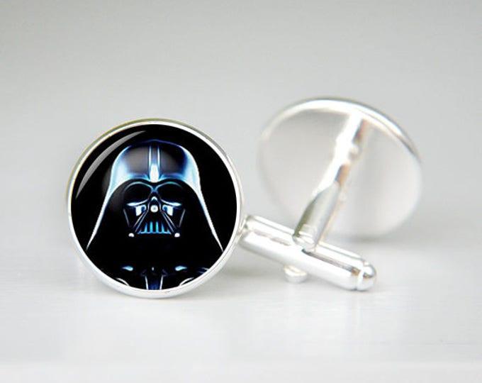 Darth Vader Cufflinks, Star Wars Cuff Links, wedding cufflinks, wedding cuff links, Darth Vader, Star Wars, Silver Cufflinks