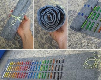 Handmade Pencil Case Roll