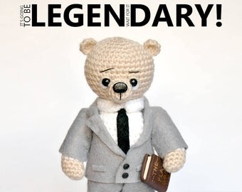 Barney Stinson, Knitted bear How I Met Your Mother toy bear Knitted teddy Toy Crochet bear Knitted teddy Knitted Toy plush bear serial