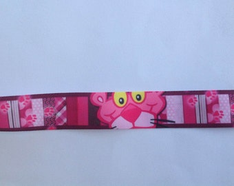 "1""   Panther Pink inspired Grosgrain Ribbon  -  By The Yard"
