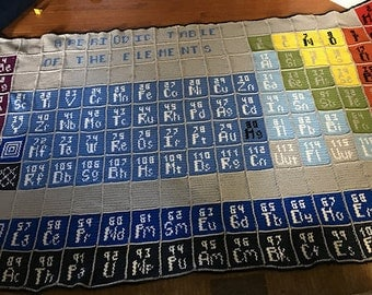 Complete Periodic Table Chart Blanket