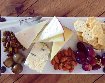 Carrara Marble Cheese Board / Tray with Handles