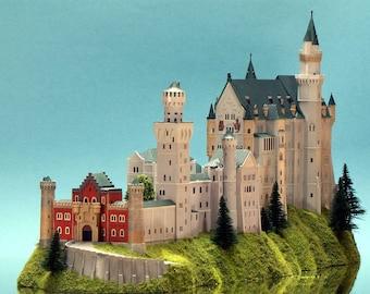 Royal Castle Model Neuschwanstein Germany 1/400 from Plastic Bayern König Schloss