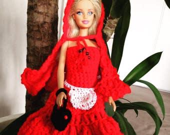 Dress little Red Riding Hood in crochet for Barbie