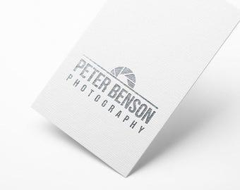 Photographer Logo Premade, Custom Photography Logo, Photography Logo, Shutter Logo, Custom Logo Design, Custom Photographer Logo