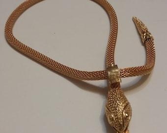 Vintage Hobe Serpent Necklace