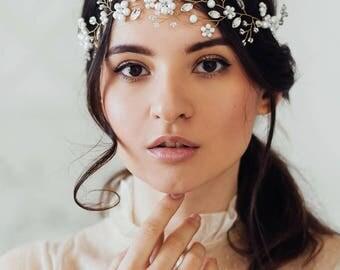 Wedding Wreath | Bridal headband | Wedding accessories | Bridal Hair Vine | Bridal Headpiece | Bridal Wreath | Bridal Hair Piece
