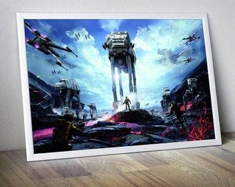 Star Wars Poster Star Wars Print Star Wars Decor Star Wars Wall Art Star Wars Art Star Wars Photo Darth Vader Luke Skywalker Star Wars Games