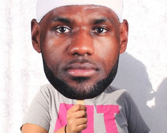 LeBron James Big Face Cutout - LeBron James Head Cut Out - Photo Booth Party Prop - King James fathead