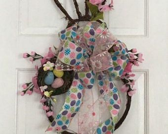 Grapevine Easter Bunny Wreath, Spring Grapevine Bunny. Grapevine Wreath, Easter Wreath, Bunny Wreath, Spring Wreath