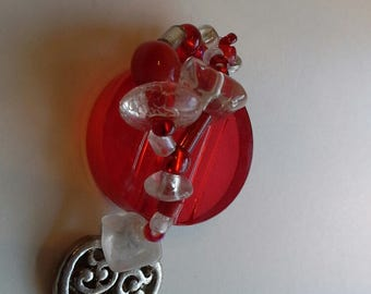Red jewel drop pendant