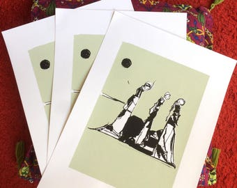 "Original screenprint - 2 colors - ""Les mureuses"""