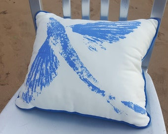 Swimming Malolo / Flying Fish Gyotaku Pillow