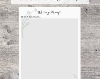Creative Writing Prompt Printable - U.S Letter, instant download
