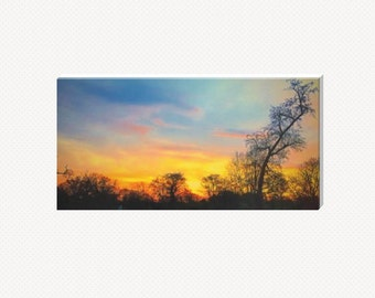 Sunset Above The Tree Line Canvas