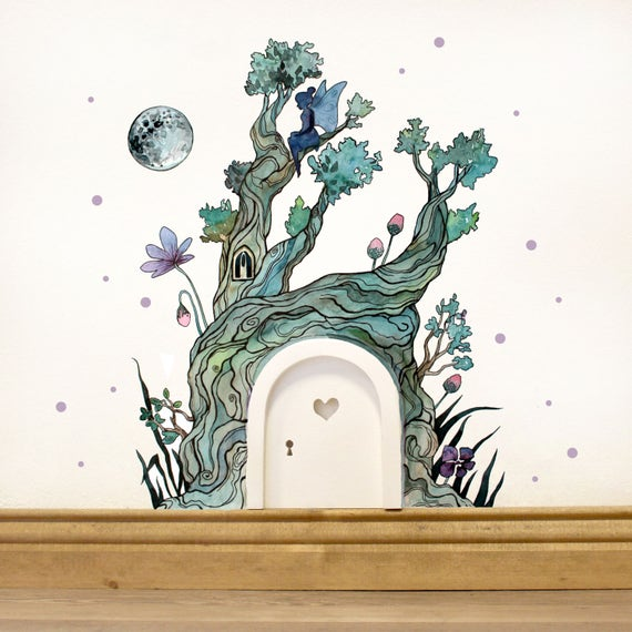 Imp door elf door wall sticker fairy door fee and magical for Fairy door for wall