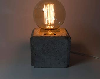 Bunky square - lamp in concrete handmade