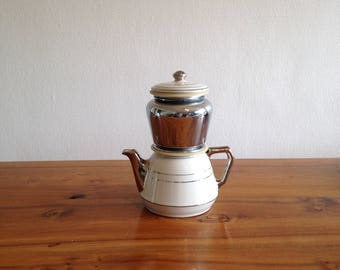 French antique antique coffee pot ceramic MTM
