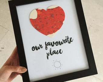 Our Favourite Place Map Frame