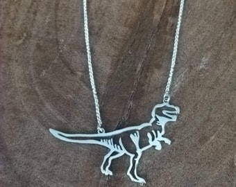 Sterling silver T-Rex necklace