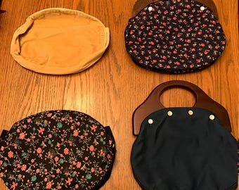 Vintage DeLanthe Purses with interchangeable covers.