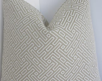 Covington Fabrics- Taupe Pillow Covers- Taupe Accent Pillows- Taupe Cream Pillows- Pillow Covers- Covington Pillows- Brown Belami Pillows