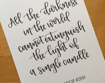 The Light of a Single Candle